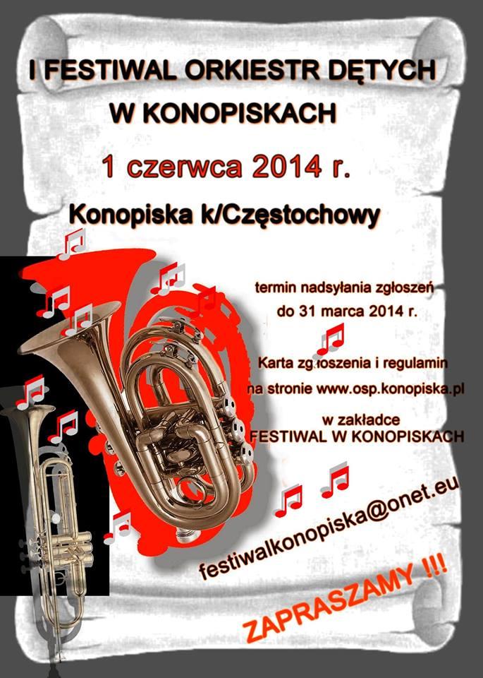 I Festiwal Orkiestr Dętych w Konopiskach